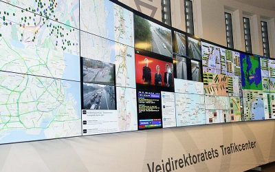 Large Video Wall for monitoring national traffic