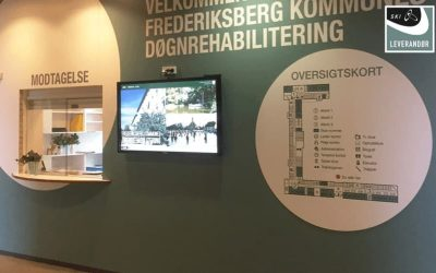 Immediad deliver Information Screens to Frederiksberg Municipality's Rehabilitation Centers